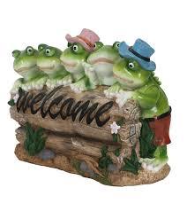 garden frogs.  Garden Five Frogs Welcome Garden Statue And