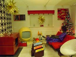 Typical 1970s living-room at Christmas time. A mix of styles ...