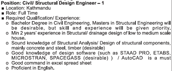 structural engineer job description fusion engineering civil structural engineer jobs in nepal