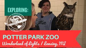 Wonderland Of Lights Lansing Mi Potter Park Zoo Wonderland Of Lights Lansing Michigan Travel Vlog