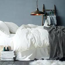 luxury solid color cotton bedding set duvet cover sheet pillowcase king queen size white gray sets
