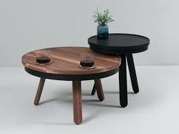 round walnut coffee table with storage space m by uk