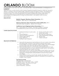 Sample Music Resume Curriculum Vitae Template Examples Musici