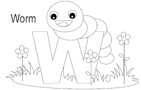 Free Printable Alphabet Letter Coloring Pages Animal For Toddlers