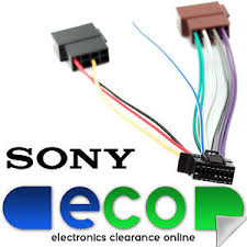 sony new style pin car stereo wiring harness iso sony car image is loading sony new style 16 pin car stereo wiring