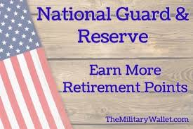 Army Reserve Retirement Points Chart Guard Reserve Retirement Points How To Earn More Points