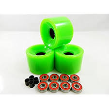 skateboard bearing spacer. big boy 70mm gel solid skateboard wheels + abec 7 bearings spacers (solid green) bearing spacer e