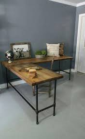 pipe and wood desk recycled wood and metal piping legs office desk steel pipe and wood pipe and wood desk