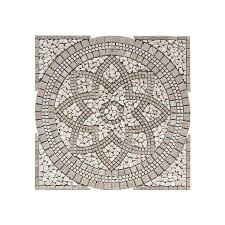 floors 2000 medallions multi colored mosaic travertine floor tile common 36 in x