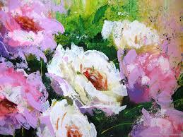 original acrylic painting on canvas peonies flowers wall dec elenaberezyukart