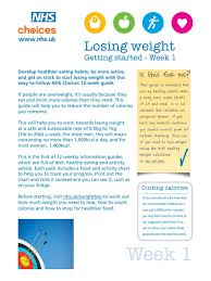 Nhs Bmi Chart For Adults Nhs Weight Loss Guide Nhs Choices Par Nhs Choices Week 1