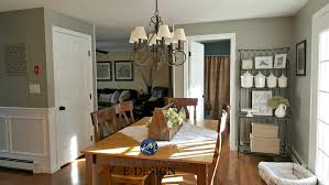 country farmhouse furniture. Country Farmhouse Style Dining Room, Warm Wood Floor And Furniture. Kylie M Interiors E-design, Online Paint Color Consulting. Sherwin Williams Dorian Gray Furniture H