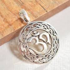 handcrafted silver om pendant