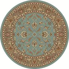 chester sultan blue 8 ft round area rug