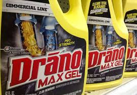 use drano to unclog your drains
