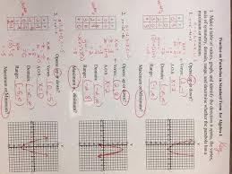 algebra 1 unit 8 quadratic equations