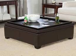 ... Coffee Table, Square Ottoman Coffee Table Tray Ottoman Coffee Table  Leather: Image Of Amazing ...
