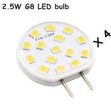 aliexpress com 4 pcs 2 5w g8 led bulb ac110v 120v g8 led bi pin light 200 lumen crystal candle chandelier decorative light lamp warm white cold from