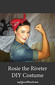 diy rosie the riveter costume idea costume ideas to make from items