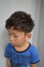 キッズ刈り上げパーマ trick Store トリックストアのヘアスタイル