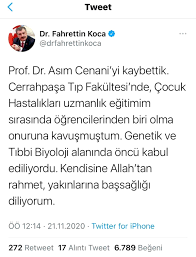 Son dakika gündem: Tıp dünyası ve ülkemizin acı kaybı...Prof. Dr. Asım  Cenani hayatını kaybetti - Haberler