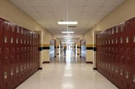 hallway at school. walter johnson middle school hallway at