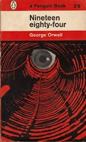 1984 orwell book cover by germano facetti
