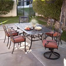 wicker patio furniture lawn furniture aluminum outdoor dining table and chairs cast aluminum outdoor dining