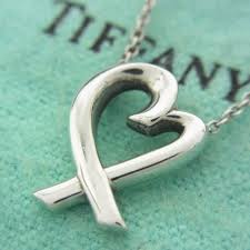 auth tiffany loving heart paloma picasso sterling silver 925 chain necklace 2421