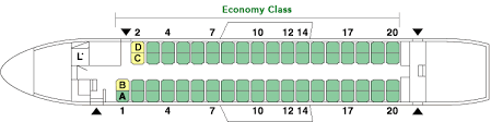 Dhc 8 400 Dash 8q Seating Chart Bombardier Dhc8 Q400cc Dh4 Aircrafts And Seats Jal