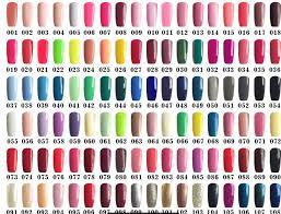 Nail Color Chart Uv Gel Nail Polish Colors With Thick 108 Color Soak Off