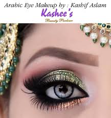 a sneak peak of our dazzling soft arabic eye makeup in mint green shade