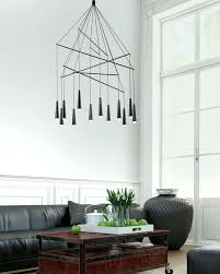 modern chandelier for living room rings white finished chanliers led circle