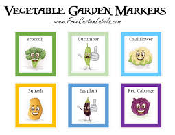 markers to mark plants mark your vegetables to remember what will grow