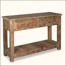 Furniture: Old Age Rustic Console Table With Underneath Storage - Extra Long  Rustic Console Table