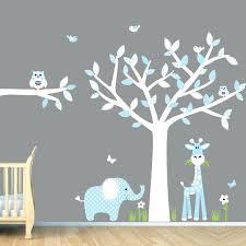 baby boy room decorating ideas blue nursery wall art jungle decals