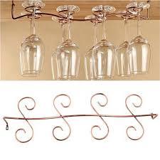 details about 6 8 wine glass rack stemware hanging under cabinet holder bar kitchen s uwu