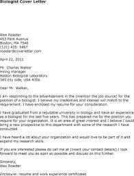 Biology Cover Letter Molecular Biologist Cover Letter Biology ...