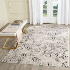 safavieh artifact charcoal cream 7 ft x 9 ft area rug