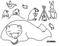 Small Picture Making Learning Fun The Bear Snores On Coloring Pages