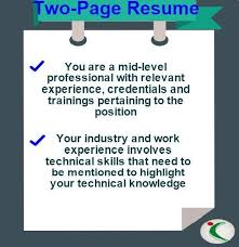 Resume How Many Pages Simple CV Length How Many Pages Should A ResumeCV Be