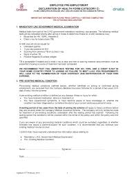Medical Physical Form Template Employment Physical Exam Form Template Application Pre Employment