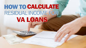 Residual Income For Va Loans Chart How To Calculate Residual Income For Va Loans