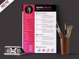 Modern Formatted Resume Templates Free Modern Simple Cv Resume Template In Photoshop Psd