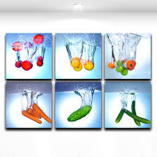 modern wall art painting fresh fruit vegetable in water picture canvas prints wall decor for the kitchen and dining room on kitchen canvas wall art uk with modern wall art painting fresh fruit vegetable in water picture