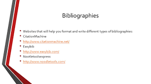 plagiarism chs library what is plagiarism this is when you take 15 bibliographies websites that will help you format and write different types of bibliographies citationmachine citationmachine net easybib