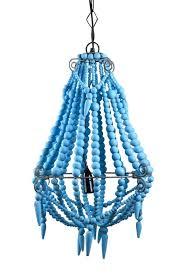 beaded chandelier small turquoise wood
