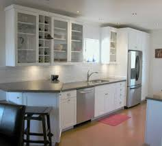 White Glass Kitchen Cabinets Picture Of Kitchen Design With Small White Rope Cabinet Glass Door