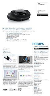 Philips AZ1837 CD-USB-MP3-FM RADYO PORTATİF MÜZİK SETİ Fiyatı