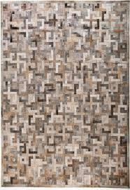 eternity brown grey modern leather area rug jpg